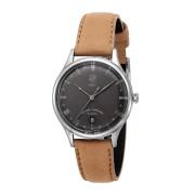 【50%OFF】デイト表示 ラウンド ウォッチ フェイス:ブラック バンド:ブラウン ファッション > 腕時計~~メンズ 腕時計
