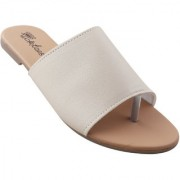 Picktoes Women Casualwear Beige Slip-on Flat