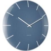 Zegar ścienny szklany Dome niebieski