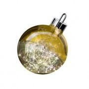 Sompex Kugelglanz, rot, 30cm, ,Sompex Dekoleuchte Ornament Weihnachtskugel Christbaumkugel LED-Lichterkette