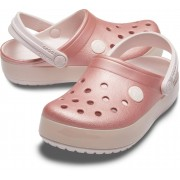 Crocs růžové dívčí pantofle Crocband Ice Pop Clog Barely Pink