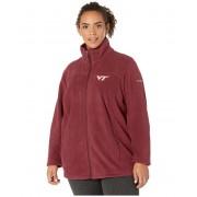 Columbia College Plus Size Virginia Tech Hokies CLG Give and Gotrade II Full Zip Fleece Jacket Deep Maroon