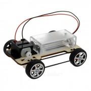 Pulsera Cinturon de cuatro ruedas Kit de coche educativo DIY Hobby Robotic Toy - Negro + Multicolor (2 x AA)