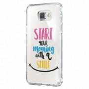 Husa Silicon Transparent Slim Smile At Morning Nokia 2