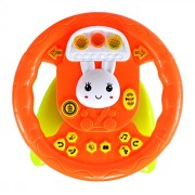 Planet of Toys Educational Big Steering Wheel with Lights and Music Effects