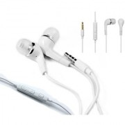 KSJ Tangle free wired S6 In the ear Earphone with Mic Volume control - White