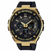 casio g-shock GST-S100G-1A G-STEEL series reloj - glod + negro