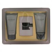 Guess Suede Eau De Toilette Spray + Body Wash + After Shave Balm Gift Set Men's Fragrance 464749