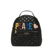 LOVE Moschino Borsa Quilted Peace Backpack BLACK