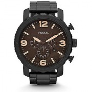 Fossil Nate chronograph Brown Dial Mens Watch - JR1356