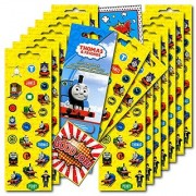 Thomas the Train Stickers Party Favors ~ Set of 2 Sticker Packs ~ 16 Sheets Over 380 Stickers plus Bonus Reward Stickers!