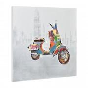 [art.work] Ručně malovaný obraz - skútr 3 - plátno napnuté na rámu - 60x60x3,8 cm