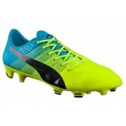 Puma voetbalschoenen EvoPower 1.3 FG junior geel/blauw maat 37,5
