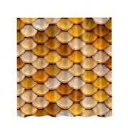 ELECTROPRIME® Modern Style Fabric Bathroom Shower Curtain Liner- 180x180cm - Gold Circle