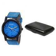Danzen wrist watch for mens with card case -cdz-414