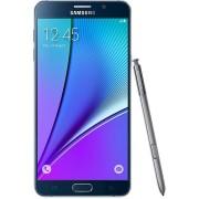 "Telefon Mobil Samsung Galaxy Note 5, Procesor Octa-Core 1.5GHz / 2.1GHz, Super Amoled Capacitive touchscreen 5.7"", 4GB RAM, 32GB Flash, 16MP, Wi-Fi, 4G, Android (Negru) + Cartela SIM Orange PrePay, 6 euro credit, 4 GB internet 4G, 2,000 minute nationale s"