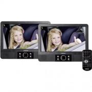 """DVD prehrávač do opierok hlavy, 2x LCD Lenco MES-405, 22.5 cm (9 """")"""