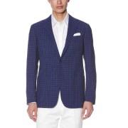 【30%OFF】チェック ノッチドラペル テーラードジャケット ネイビー 50 ファッション > メンズウエア~~ジャケット