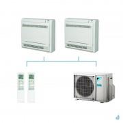 DAIKIN climatisation bi split console double flux gaz R32 FVXM-F 5kW FVXM25F + FVXM50F + 2MXM50M9 A+++
