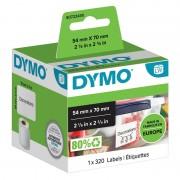 DYMO LW Multifunctionele etiketten 99015 Zwart op Wit 54 mm