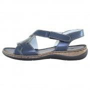 Sandale piele naturala dama - bleumarin, Elvis - 47734-Blue