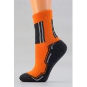 Dětské sportovní ponožky D028 oranžovo - šedá