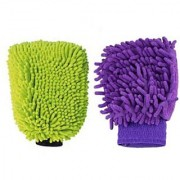set of 2Car Glove Cleaning Cloth Micro Fibre Hand Wash / table / laptop
