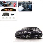 Auto Addict Car White Reverse Parking Sensor With LED Display For Honda Amaze