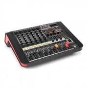 Power Dynamics PDM-M604A Mesa de mezclas 6 entradas para micrófono Procesador multi-FX de 24 bits Reproductor USB (Sky-172.612)