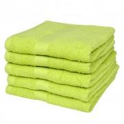 vidaXL Osuška velká jablečně zelená 100% bavlna 500 gsm, 100x150cm, sada 5 ks
