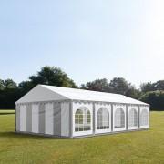 taltpartner.se Partytält 5x10m PVC 500 g/m² grå-vit vattentät