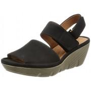 Clarks Women's Clarene Allure Black Leather Fashion Sandals - 5 UK/India (38 EU)