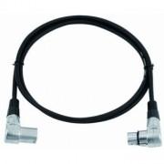 OMNITRONIC XLR cable 3pin 1.5m 90° bk