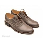 Pantofi barbati piele naturala Gri cod P52 - LICHIDARE STOC 42, 43