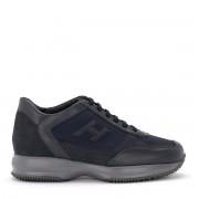 Hogan Sneaker Hogan New Interactive in nubuck e tessuto tecnico blu