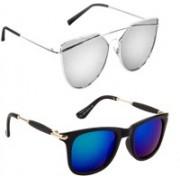Sulit Aviator, Wayfarer, Cat-eye Sunglasses(Silver, Blue)