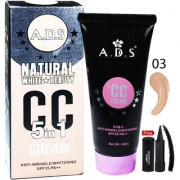 ADS Natural White Skin Beauty 5in1 CC Cream-A1678-03 With Free Adbeni Kajal