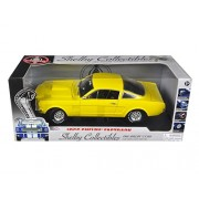 Shelby Collectibles 175-1 1966 Ford Shelby Mustang Gt 350 Fastback Yellow 1-18 Diecast Car Model