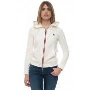 US Polo Assn Felpa con cappuccio Bianco Cotone Donna