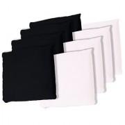 TRADEMARK GAMES Championship Cornhole Bean Bags (Set of 8) Black/White