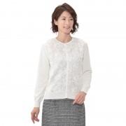 東京ソワール リボンレースカーディガン【QVC】40代・50代レディースファッション