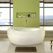 Jacuzzi Embrace vasca da bagno freestanding ovale 175x83 cm bianco