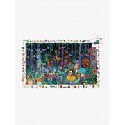 DJECO Puzzle de 100 peças, A floresta encantada, da DJECO azul escuro liso com motivo