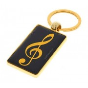 A-Gift-Republic Key Ring G-Clef Black/Gold