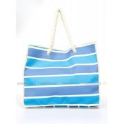Çizgili Plaj Çantası - Mavi - Gio & Mi