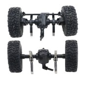 JJRC Q61 4WD Front And Rear Bridge Axle Set For 1/16 Military Truck Rc Car Green Wheel