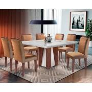 Sala de Jantar Rufato Lecce 135+8 Cadeiras - Café Chocolate