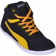 Sukun Black Yellow Casual Shoes
