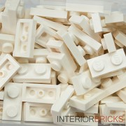 LEGO Bulk Parts: (50x) Plate 1 x 2 - WHITE -- New & Unused