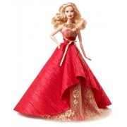 Poupee Barbie Mattel Noel 2014 Holiday Robe Rouge Collector Doll Cadeau Collection Jouet Petite Fille